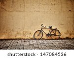 Old Rusty Vintage Bicycle Near...