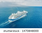 Cruise Ship Liner Sails In The...