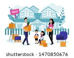 young happy family with two... | Shutterstock .eps vector #1470850676
