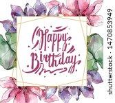 lotus floral botanical flowers. ... | Shutterstock . vector #1470853949