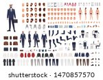 arab businessman constructor... | Shutterstock .eps vector #1470857570