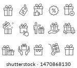 set of gift box icons  such as... | Shutterstock .eps vector #1470868130