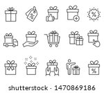 set of gift box icons  such as... | Shutterstock .eps vector #1470869186