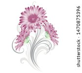 floral abstract background... | Shutterstock .eps vector #1470875396