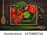 set of fresh salad products.... | Shutterstock . vector #1470880766