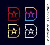 letter d logotypes with star...   Shutterstock .eps vector #1470889016