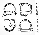 badge set  vintage award sign... | Shutterstock . vector #1470893510