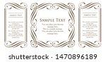 royal monogram frame. hand... | Shutterstock .eps vector #1470896189