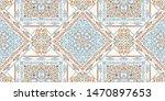 Stock vector seamless pattern based on ornament paisley bandana print boho vintage style vector background 1470897653