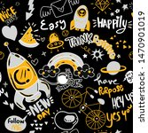 cute hand drawn doodle set with ... | Shutterstock .eps vector #1470901019