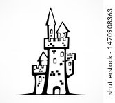 retro castle sketch  antique... | Shutterstock . vector #1470908363