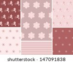 set floral background. vector... | Shutterstock .eps vector #147091838