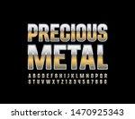 vector precious metal uppercase ... | Shutterstock .eps vector #1470925343