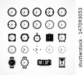 clocks icons. vector... | Shutterstock .eps vector #147093053