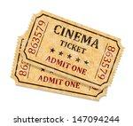 retro cinema tickets on white... | Shutterstock .eps vector #147094244