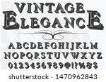 abc font alphabet script... | Shutterstock .eps vector #1470962843