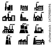 set of factory icons. vector... | Shutterstock .eps vector #1470988496