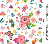 colorful seamless pattern with... | Shutterstock .eps vector #1470989480