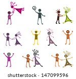vector pictograms of dancing... | Shutterstock .eps vector #147099596