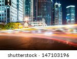 the light trails on the modern... | Shutterstock . vector #147103196