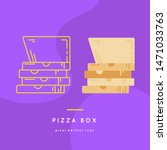 pizza box line icon vector  in... | Shutterstock .eps vector #1471033763