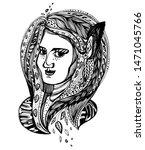 monster girl. young elf magic... | Shutterstock .eps vector #1471045766