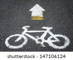bicycle lane sign on street | Shutterstock . vector #147106124