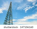 crane on blue sky background | Shutterstock . vector #147106160