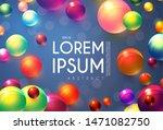 abstract flying spheres... | Shutterstock .eps vector #1471082750