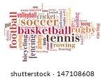 sports word cloud | Shutterstock . vector #147108608