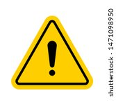 hazard warning symbol. vector...