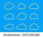 set outline cloud icon for...