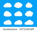 vector cloud icons isolated on... | Shutterstock .eps vector #1471103189