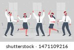 office workers are celebrating... | Shutterstock . vector #1471109216