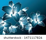 abstract  hand drawn floral...   Shutterstock .eps vector #1471117826