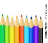 colored pencils. vector... | Shutterstock .eps vector #147112268