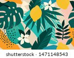 collage contemporary floral... | Shutterstock .eps vector #1471148543