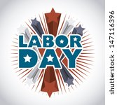 labor day  over gray background ... | Shutterstock .eps vector #147116396
