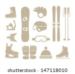 accessories,board,boots,cap,collection,elements,entertainment,equipment,fastenings,glasses,gloves,guard,healthy,helmet,icon