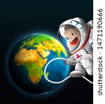 Kid Astronaut In Space  Africa...