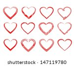 red hearts | Shutterstock .eps vector #147119780