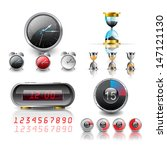 clocks vector set | Shutterstock .eps vector #147121130