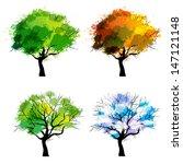 Trees Of Four Seasons   Spring...