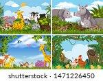 set of various animals in... | Shutterstock .eps vector #1471226450