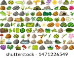 set of isolated objects theme   ... | Shutterstock .eps vector #1471226549