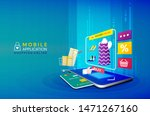 online shopping concept for...   Shutterstock .eps vector #1471267160