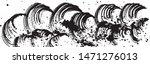 wave. summer splash. brush... | Shutterstock .eps vector #1471276013