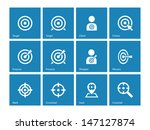 target icons on blue background.... | Shutterstock .eps vector #147127874