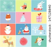 set of objects and images of... | Shutterstock .eps vector #147128840