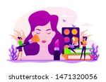 woman in beautician parlor.... | Shutterstock .eps vector #1471320056